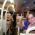 Le bus couchette à l'aller