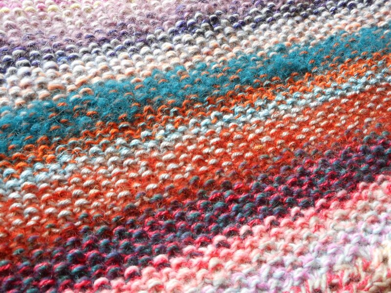 KAL Marled Magic Week 1 Section 2 seed stitch