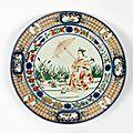A cornelius pronk arita porcelain plate