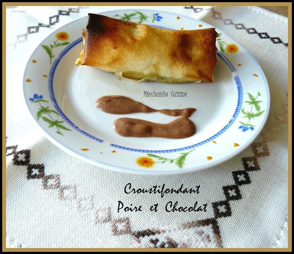Croustifondants aux Poires et Chocolat