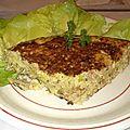 Tortilla aux lardons au four à microondes