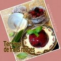 Terrine de fruits rouges coulis citron basilic