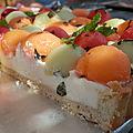 Tarte melon, pastèque & menthe fraîche