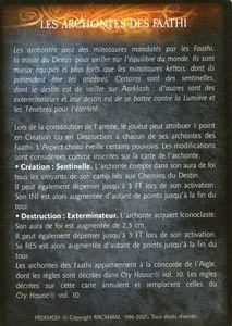 Archonte des Faathi - Les Archontes des Faathi