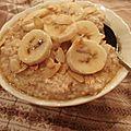 Porridge crémeux aux bananes et cannelle