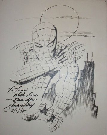 jack kirby spider-ma sketch