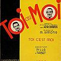 Oclc/ft - 5bis/7 - toi c'est moi - pills & tabet (1934, 1936), réda caire & danou (1934)
