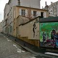 Pittoresque rue Alphand sur la butte aux Cailles.