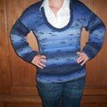 pull tunique en horizon