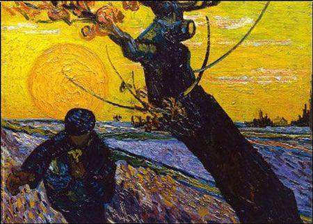 VG semeur au coucher du soleil