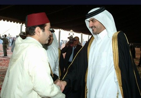 Crwon Prince Moulay Rachid and Heir Apparent of Qatar, JAnuary 2005