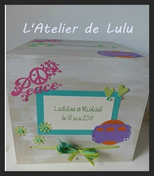 boite a enveloppe peace and love pour maries