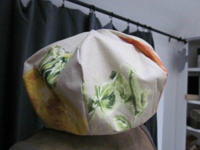 Chapeau de pluie AGATHE en coton enduit potager - taille 54-55 (3)
