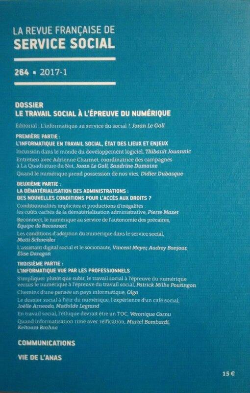 Revue française de service social 2017