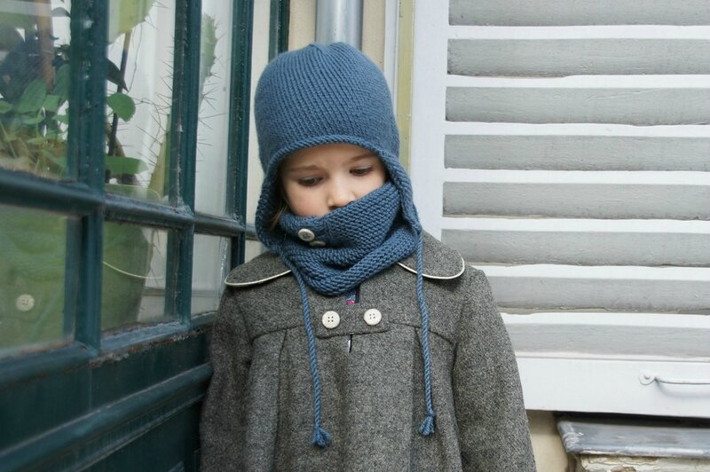 manteau bonnet snood