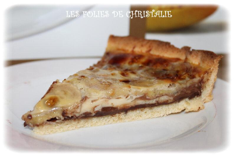 Tarte banane chocolat 2