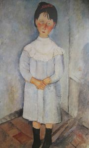Modigliani Fillette en bleu