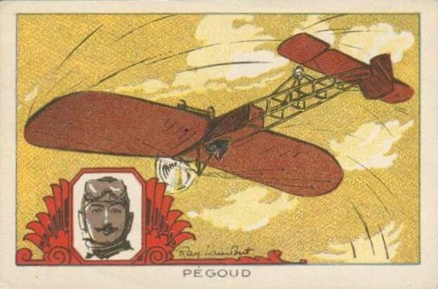 Image illustrée par Ray Lambert Pégoud Looping 1913