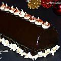 Bûche à la vanille, caramel et chocolat