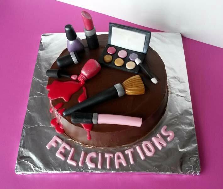 gâteau fashion maquillage