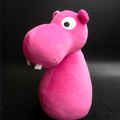 doudou hippopotame rose