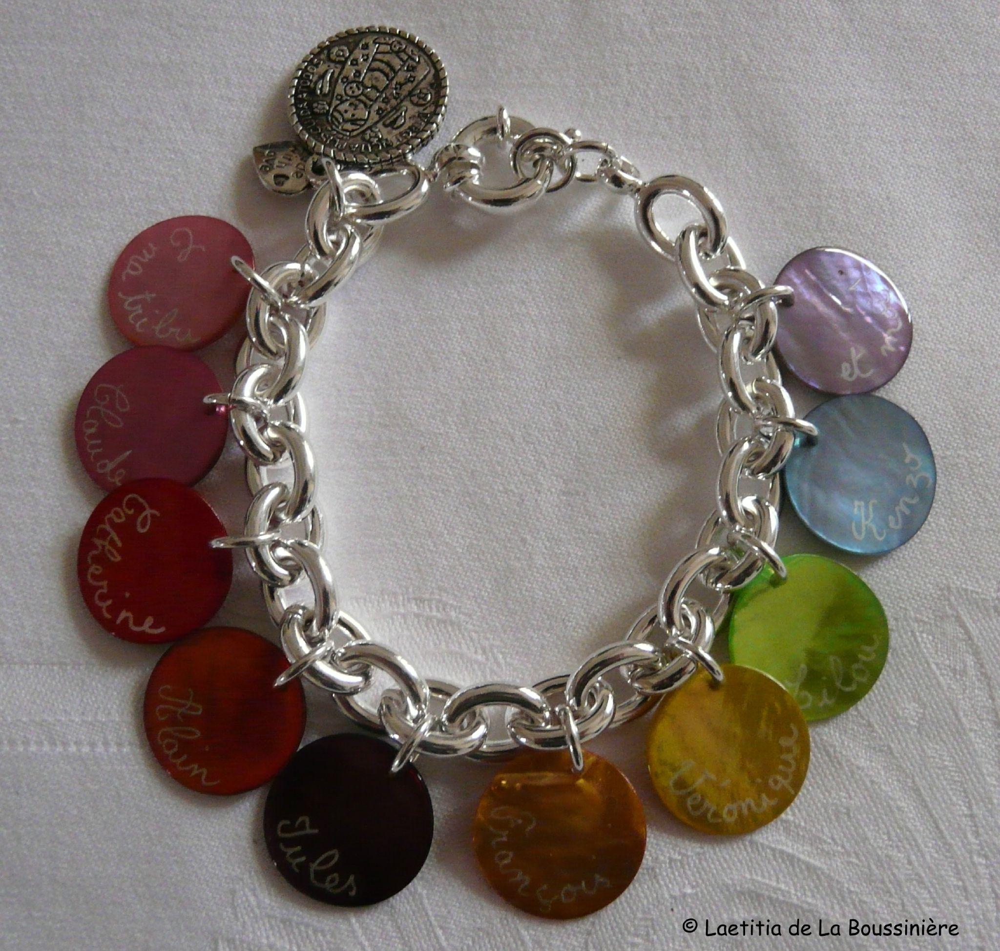 1. Support : chaîne plaqué argent ovale - 36 € le bracelet seul