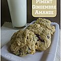 Cookies piment gingembre amande
