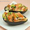Avocats au saumon fumé, sauce raifort