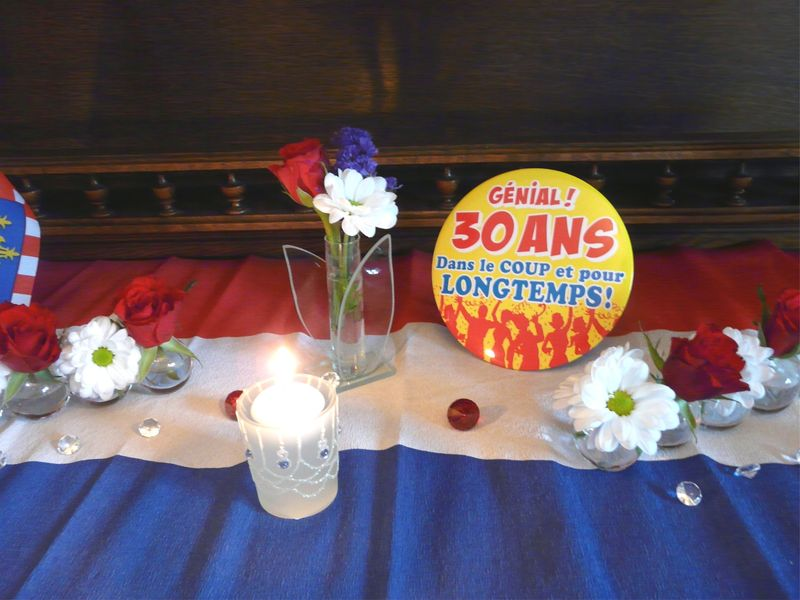 D coration de table anniversaire 30 ans for Decoration 30 ans