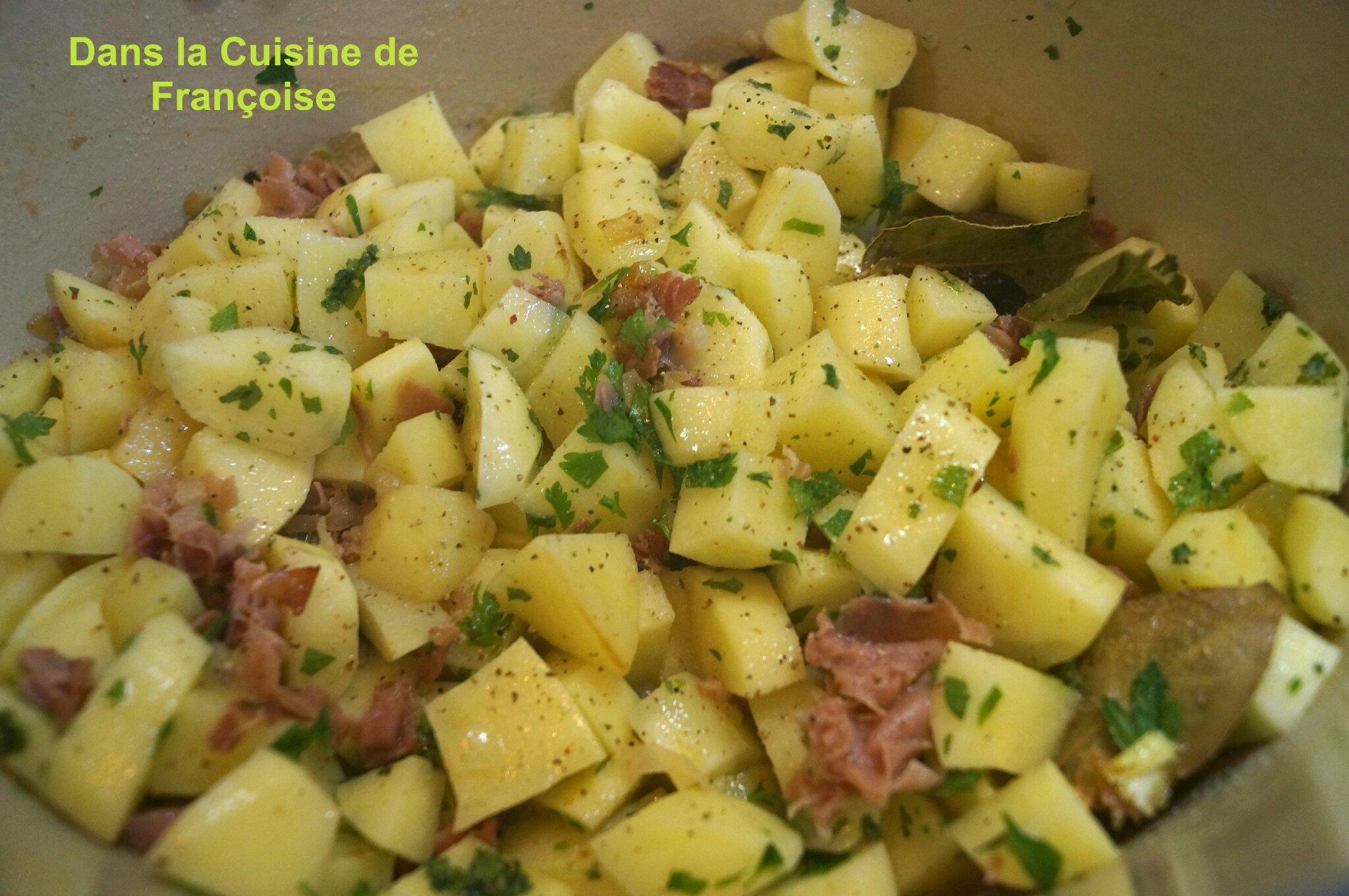 Pommes de terre la paysanne weight watchers dans la cuisine de fran oise - Plat cuisine weight watchers ...