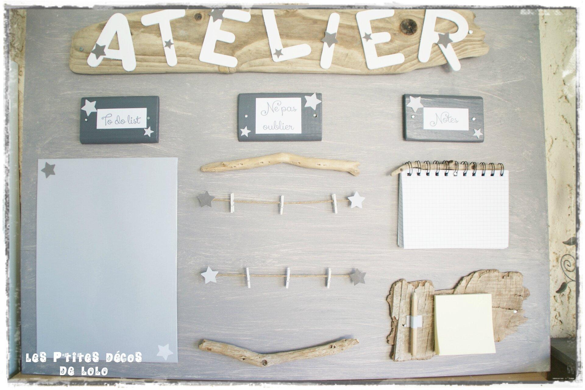 DIY déco utile : faire un maxi pense-bête avec une planche récup