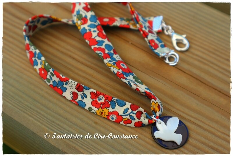 Collier colombe nacre Betsy ann garance