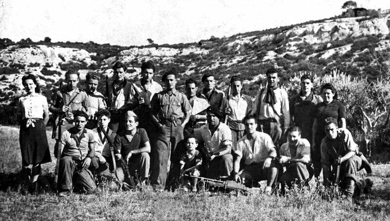 Groupe Franc Kléber, Lagnes 1944 (Coll. H. VICARI; restauration numérique CVR de Vaucluse 2014)