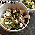 Salade de pois chiches aux courgettes et citrons grillés