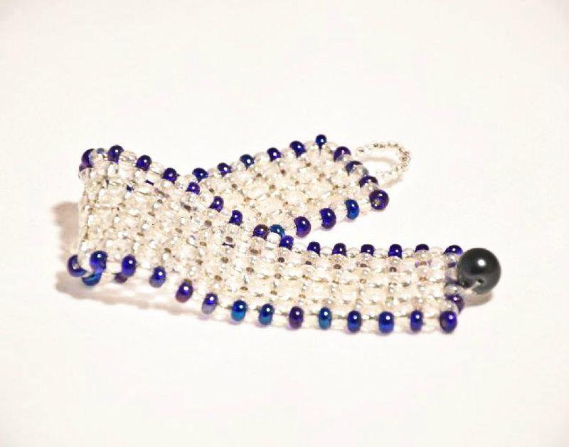 Bracelet et perles de verre
