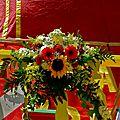 Détail floral du char du Ratha Yatra.