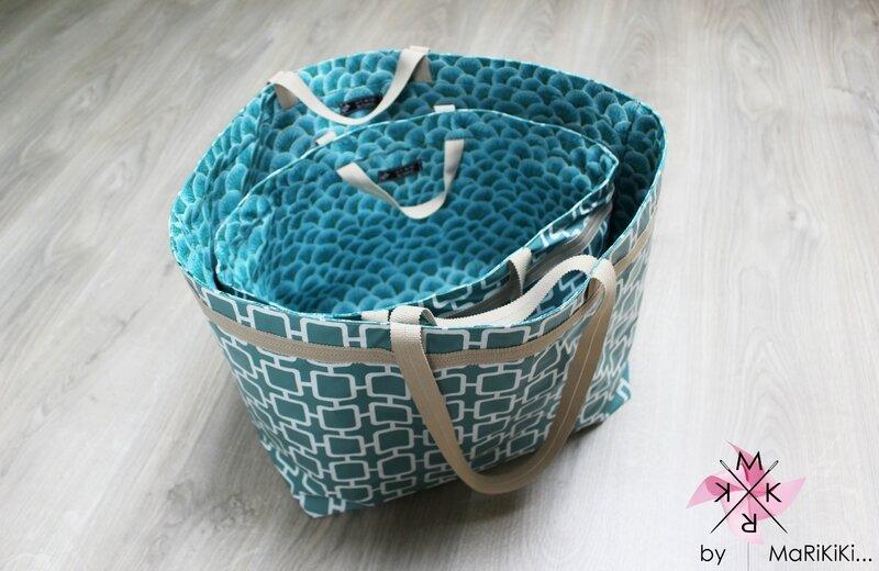 04 sacs bleus vintage