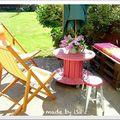 Recyclage Palette: salon de jardin récup' #1