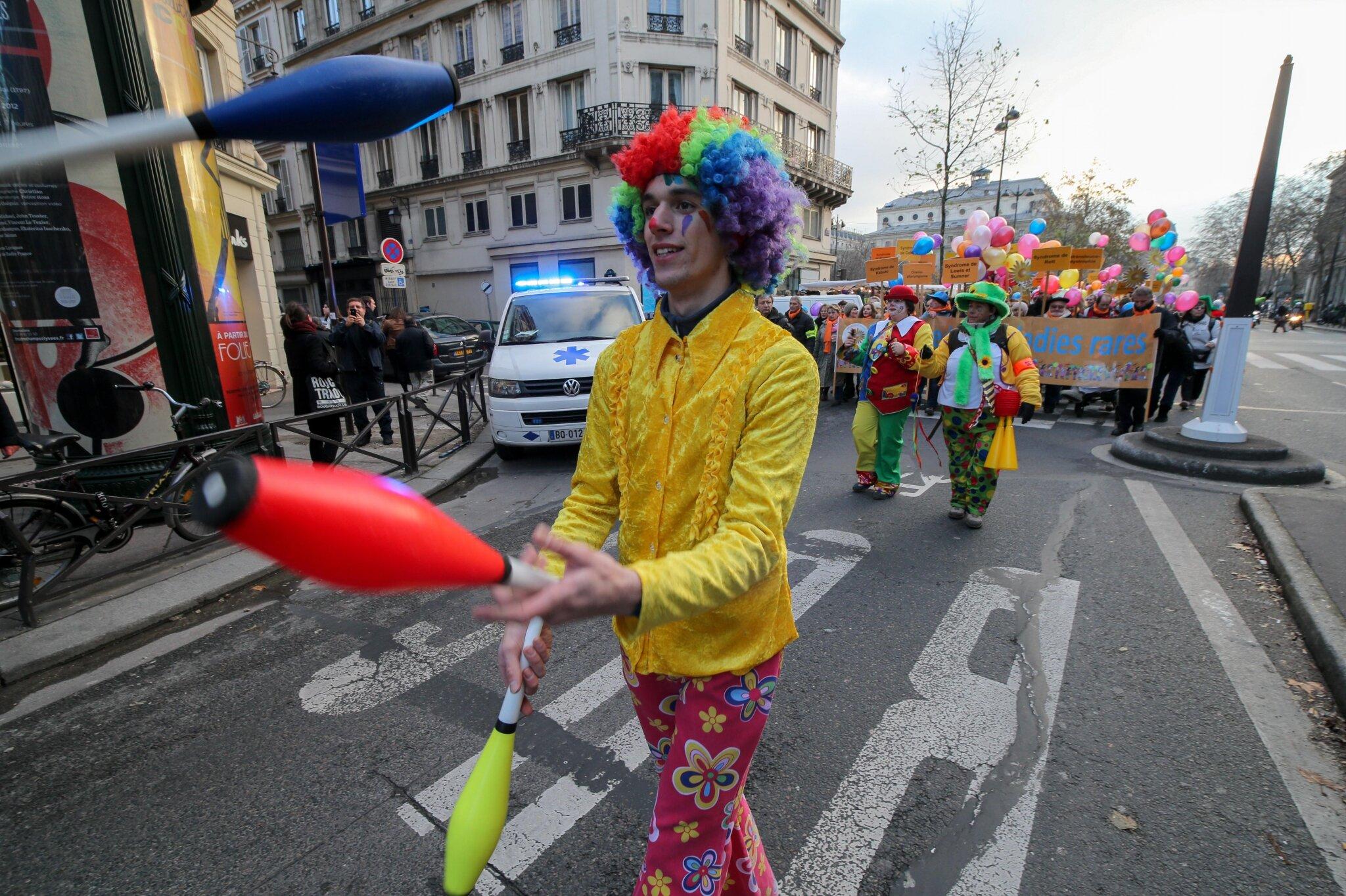 13e Marche des maladies rares dans le centre de Paris. © Photo Michel Stoupak. Sam 08.12.2012.