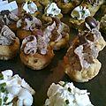 Minis cupcakes salés, tapenade, oignon