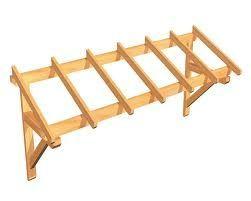 fabrication d 39 une marquise pour porte de garage fabriquer des meubles avec des palettes. Black Bedroom Furniture Sets. Home Design Ideas