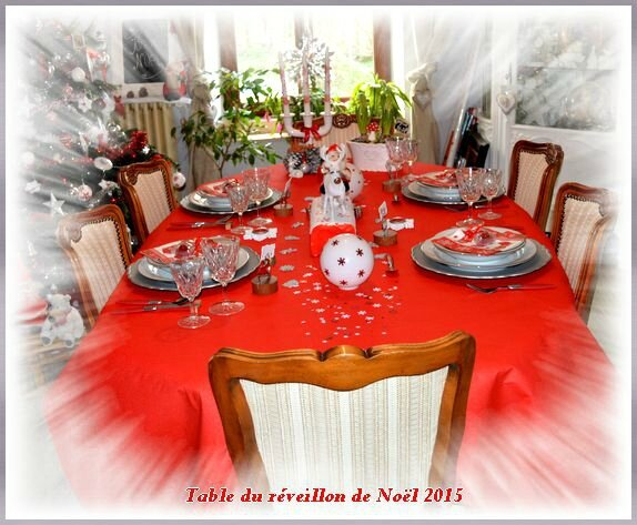 Table réveillon noël 2015