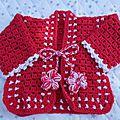 Gilet crochet bébé laine baby soft zeeman