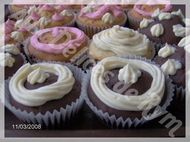 Mes cupcakes vanille choco