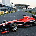 La nouvelle mr02 pour la saison 2013 de marussia (cpa)