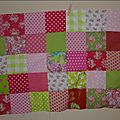 Patchwork in progress et fanion accrochés