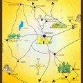 Plan des sites Touristiques de la région Méknes-Tafilalet