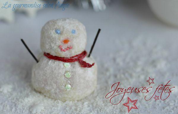 bonhomme de neige truffes chocolat blanc noel