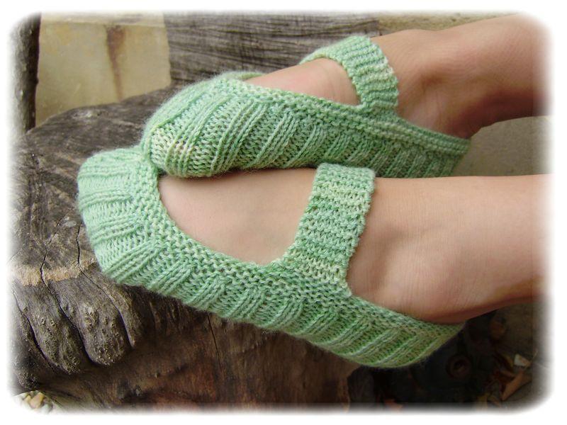 Les chaussons de la soeurette - Août 2010