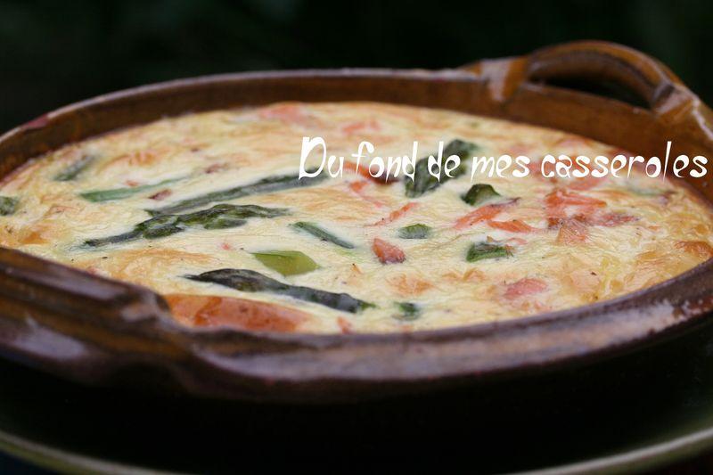 Clafoutis d 39 asperges vertes au saumon fum du fond de mes casseroles - Fond de casserole brule ...